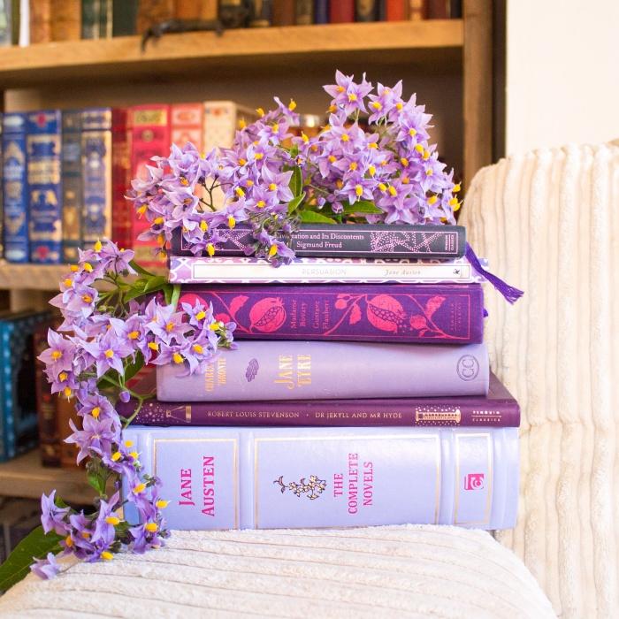 Beautiful purple books