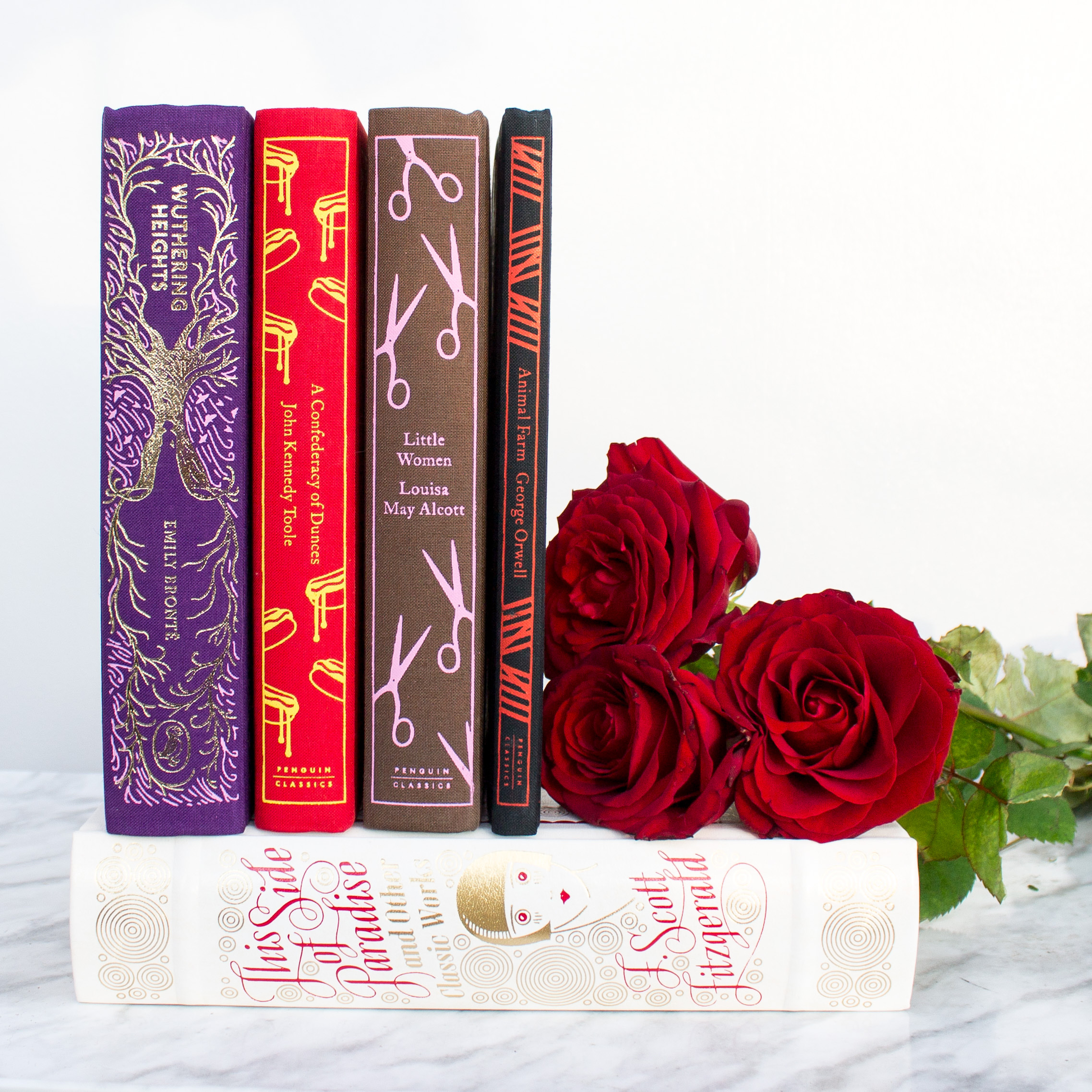 Wuthering Heights, leatherbound and clothbound classic books